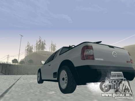 Volkswagen Saveiro 1.6 2009 pour GTA San Andreas vue arrière