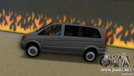 Mercedes-Benz Vito 2007 pour une vue GTA Vice City de la gauche