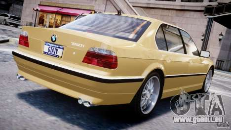 BMW 750i v1.5 pour GTA 4 Vue arrière de la gauche