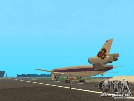 McDonell Douglas  DC 10 Thai Airways für GTA San Andreas zurück linke Ansicht