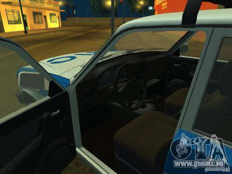 GAZ 3110 Polizei für GTA San Andreas Rückansicht