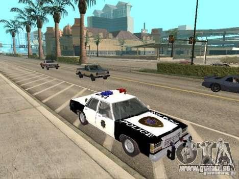 Ford LTD Crown Victoria Interceptor LAPD 1985 pour GTA San Andreas vue arrière