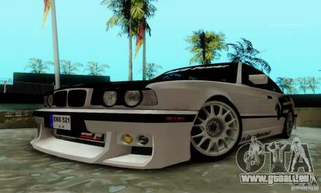 BMW E34 540i Tunable pour GTA San Andreas vue intérieure
