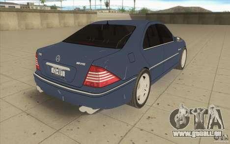 Mercedes-Benz S-Klasse pour GTA San Andreas vue de côté