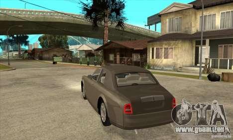 Rolls Royce Coupe 2009 pour GTA San Andreas sur la vue arrière gauche