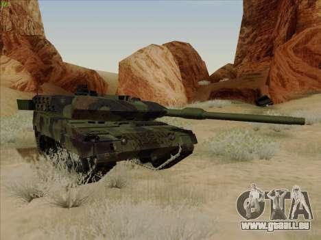 Leopard 2A6 pour GTA San Andreas vue intérieure