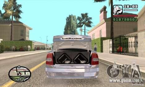 LADA 2170 Chrome pour GTA San Andreas sur la vue arrière gauche