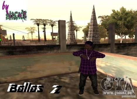 Pak Skins Ballas für GTA San Andreas zweiten Screenshot