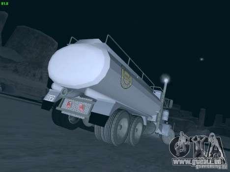 Kenworth Petrol Tanker pour GTA San Andreas sur la vue arrière gauche