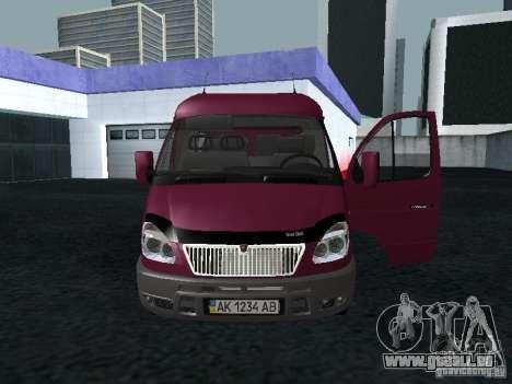 GAZ 2217 Sobol pour GTA San Andreas sur la vue arrière gauche