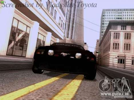Ford Mustang GT 2011 Unmarked pour GTA San Andreas vue arrière
