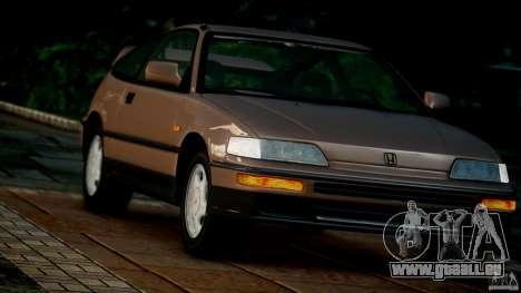 Honda CR-X SiR 1991 pour GTA 4 Vue arrière