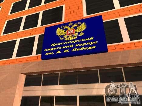Corps de cadets de Krasnoïarsk pour GTA San Andreas deuxième écran