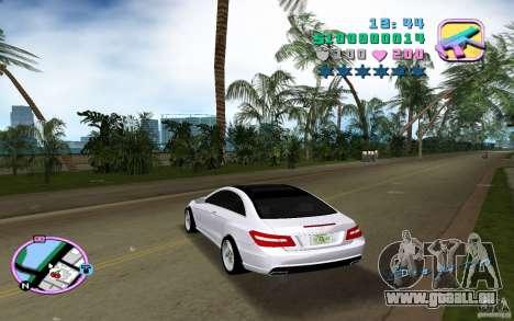 Mercedes-Benz E Class Coupe C207 für GTA Vice City zurück linke Ansicht