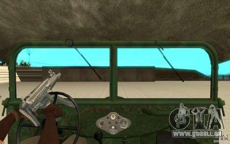 Gaz-64 peau 1 pour GTA San Andreas vue de droite