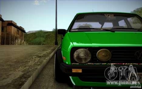 VW Golf MK2 Stanced pour GTA San Andreas vue de dessus