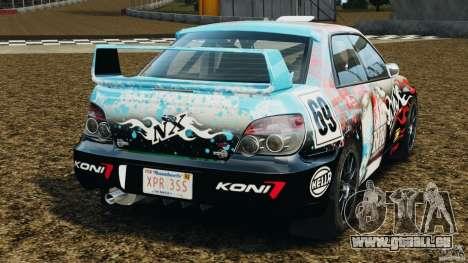 Subaru Impreza WRX STI N12 pour GTA 4 Vue arrière de la gauche