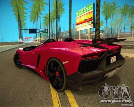Lamborghini Aventador J pour GTA San Andreas vue intérieure