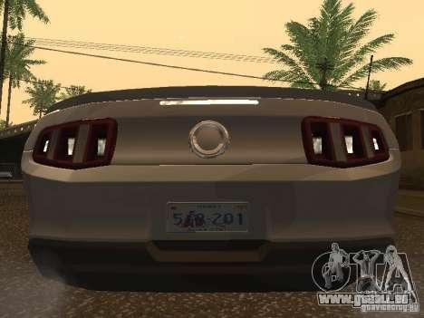 Ford Mustang 2011 GT für GTA San Andreas rechten Ansicht