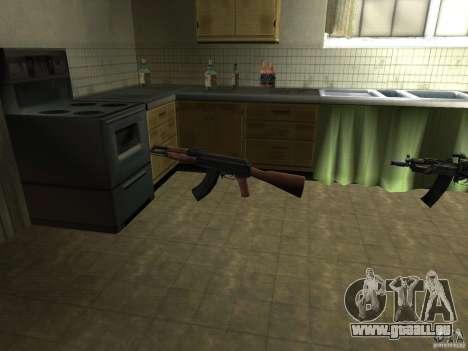Pak armes domestiques pour GTA San Andreas deuxième écran