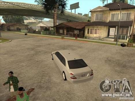 Mercedes-Benz Pullman (w221) SE pour GTA San Andreas vue de droite