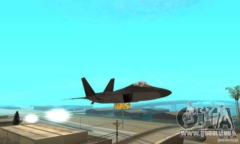 F-22 Black pour GTA San Andreas vue de côté