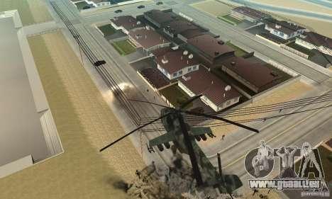 Black Ops Hind pour GTA San Andreas vue arrière