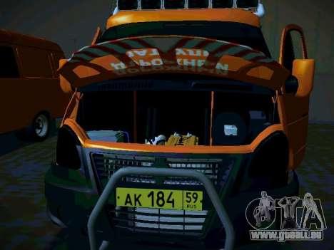 Gazelle 2705 Business für GTA San Andreas Rückansicht