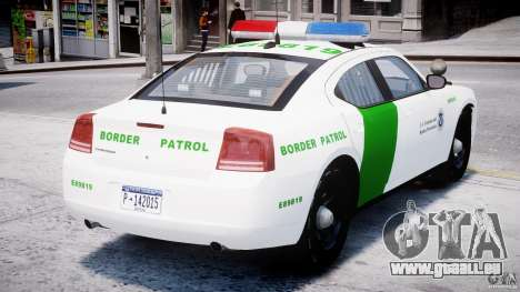 Dodge Charger US Border Patrol CHGR-V2.1M [ELS] pour GTA 4 est un droit