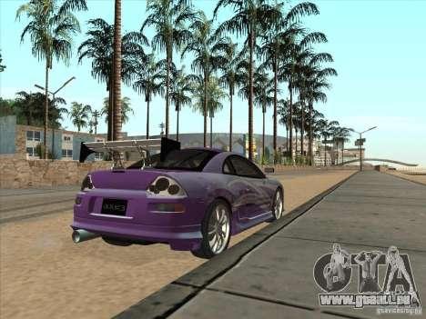 Mitsubishi Eclipse Spyder 2FAST2FURIOUS pour GTA San Andreas sur la vue arrière gauche