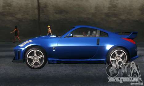 Nissan 350Z Varis für GTA San Andreas linke Ansicht