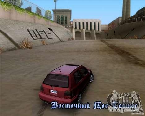Volkswagen Golf MK3 VR6 pour GTA San Andreas vue de côté