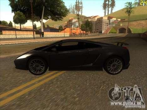 Lamborghini Gallardo Superleggera 2006 für GTA San Andreas zurück linke Ansicht