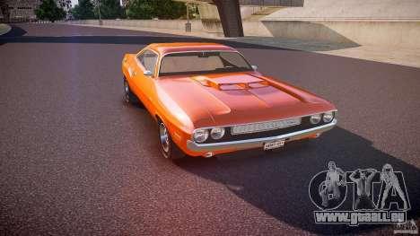 Dodge Challenger v1.0 1970 pour GTA 4 est une vue de l'intérieur