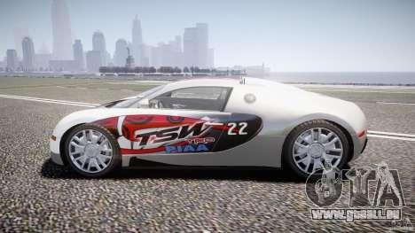 Bugatti Veyron 16.4 v1 pour GTA 4 est une vue de l'intérieur