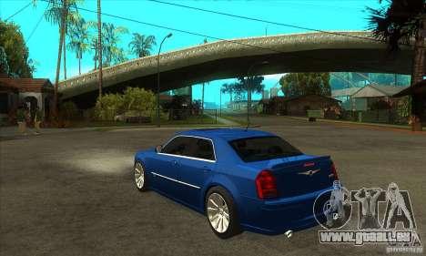 Chrysler 300C SRT 8 2008 pour GTA San Andreas sur la vue arrière gauche