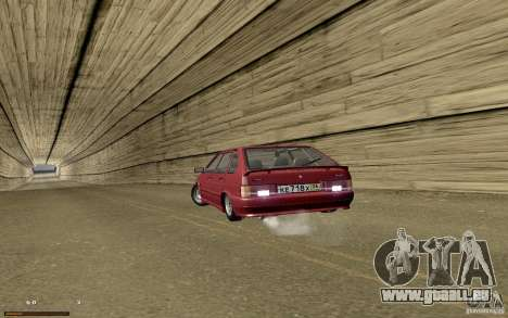 ВАЗ 2114 qualité pour GTA San Andreas vue de dessus