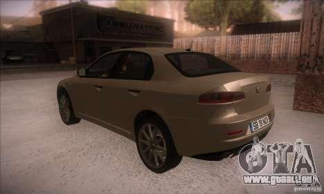 Alfa Romeo 159 pour GTA San Andreas sur la vue arrière gauche
