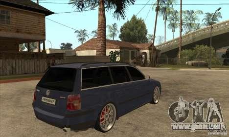 Volkswagen Passat B5.5 2.5TDI 4MOTION pour GTA San Andreas vue de droite