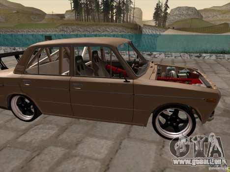 Style dérive de VAZ 2106 pour GTA San Andreas laissé vue