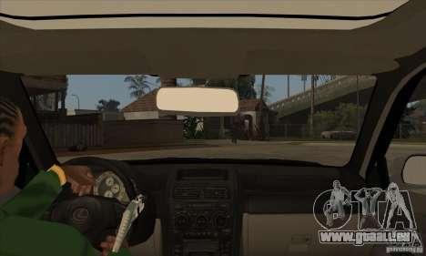 Lexus IS300 pour GTA San Andreas vue intérieure