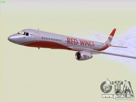 Tupolev Tu-204 Red Wings Airlines für GTA San Andreas obere Ansicht