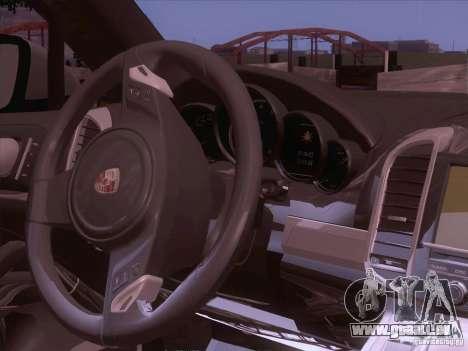 Porsche Cayenne Turbo 958 2011 V2.0 pour GTA San Andreas vue intérieure
