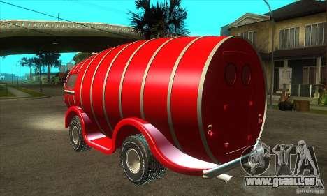 Beer Barrel Truck pour GTA San Andreas sur la vue arrière gauche