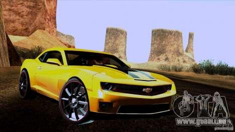 Chevrolet Camaro pour GTA San Andreas vue de droite