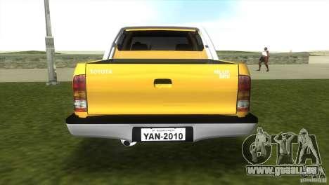 Toyota Hilux SRV 4x4 pour une vue GTA Vice City de la gauche