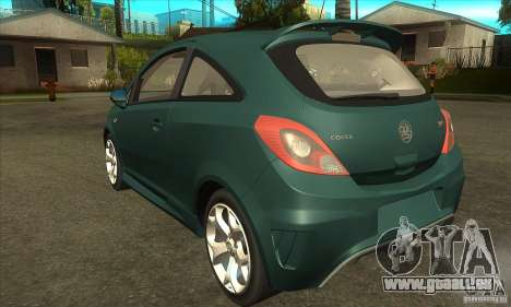 Vauxhall Corsa VXR für GTA San Andreas zurück linke Ansicht
