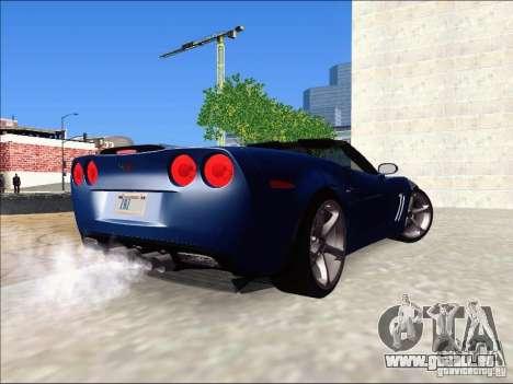 Chevrolet Corvette Grand Sport Cabrio 2010 pour GTA San Andreas laissé vue