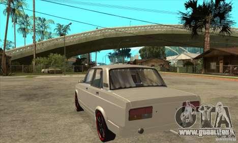 VAZ 2107 réglage optique pour GTA San Andreas sur la vue arrière gauche