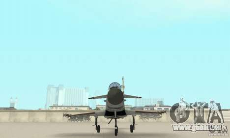 EF-2000 Typhoon V1.3 für GTA San Andreas Unteransicht